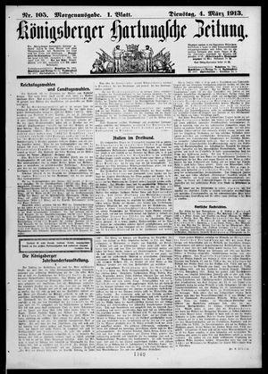 Königsberger Hartungsche Zeitung vom 04.03.1913