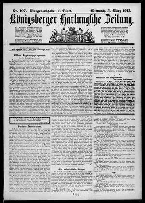 Königsberger Hartungsche Zeitung on Mar 5, 1913