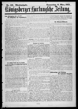 Königsberger Hartungsche Zeitung vom 06.03.1913