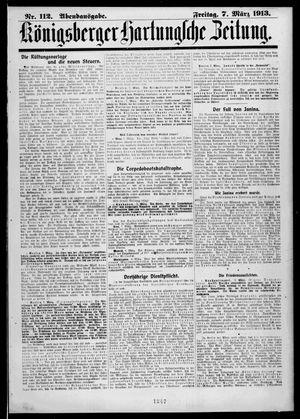 Königsberger Hartungsche Zeitung vom 07.03.1913