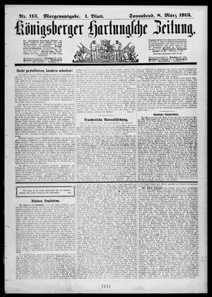Königsberger Hartungsche Zeitung vom 08.03.1913