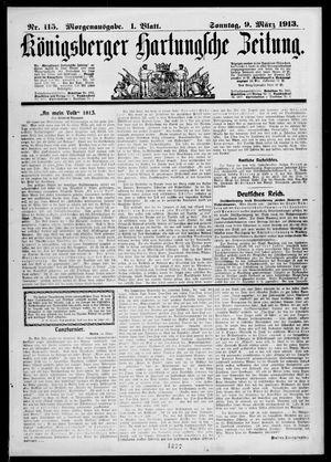 Königsberger Hartungsche Zeitung vom 09.03.1913