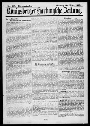 Königsberger Hartungsche Zeitung vom 10.03.1913