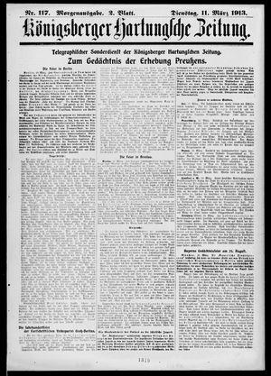 Königsberger Hartungsche Zeitung vom 11.03.1913