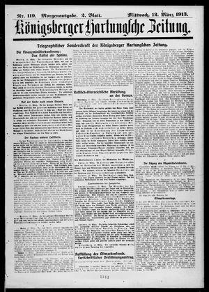 Königsberger Hartungsche Zeitung vom 12.03.1913