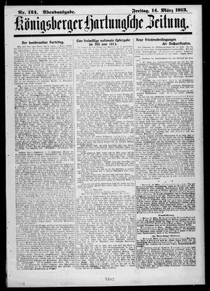 Königsberger Hartungsche Zeitung vom 14.03.1913