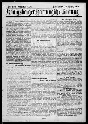 Königsberger Hartungsche Zeitung vom 15.03.1913
