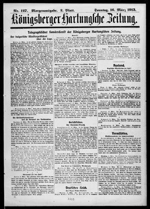 Königsberger Hartungsche Zeitung vom 16.03.1913