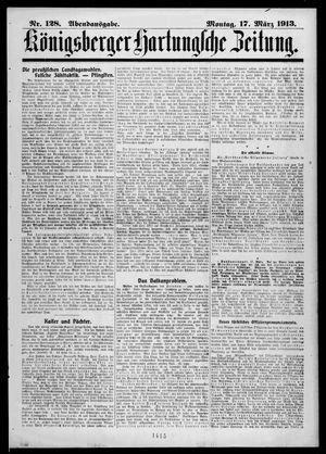 Königsberger Hartungsche Zeitung vom 17.03.1913
