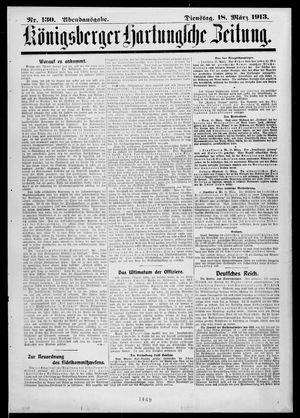 Königsberger Hartungsche Zeitung vom 18.03.1913