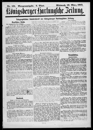 Königsberger Hartungsche Zeitung vom 19.03.1913