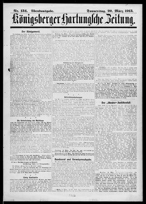 Königsberger Hartungsche Zeitung vom 20.03.1913