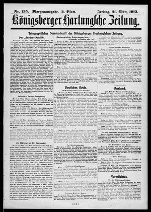 Königsberger Hartungsche Zeitung vom 21.03.1913