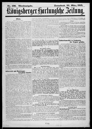 Königsberger Hartungsche Zeitung vom 22.03.1913