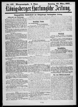 Königsberger Hartungsche Zeitung vom 23.03.1913