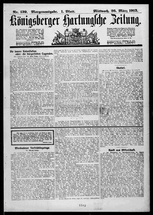 Königsberger Hartungsche Zeitung vom 26.03.1913
