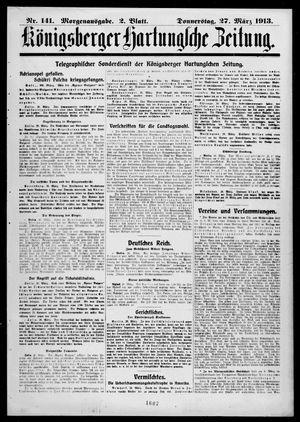 Königsberger Hartungsche Zeitung vom 27.03.1913