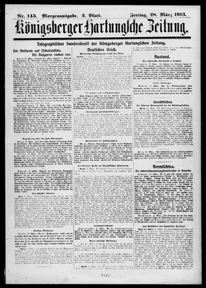 Königsberger Hartungsche Zeitung vom 28.03.1913