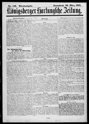 Königsberger Hartungsche Zeitung vom 29.03.1913