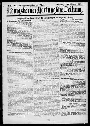 Königsberger Hartungsche Zeitung vom 30.03.1913
