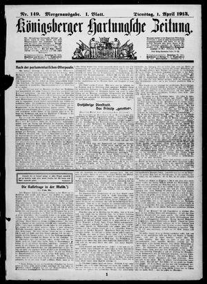 Königsberger Hartungsche Zeitung vom 01.04.1913