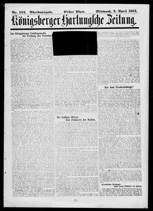 Königsberger Hartungsche Zeitung vom 02.04.1913