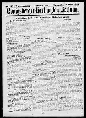 Königsberger Hartungsche Zeitung on Apr 3, 1913