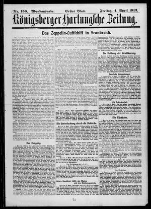 Königsberger Hartungsche Zeitung vom 04.04.1913