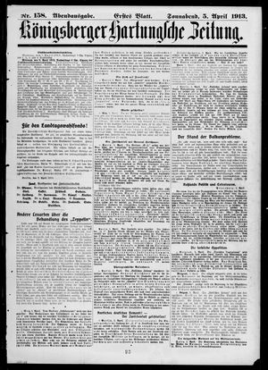 Königsberger Hartungsche Zeitung vom 05.04.1913