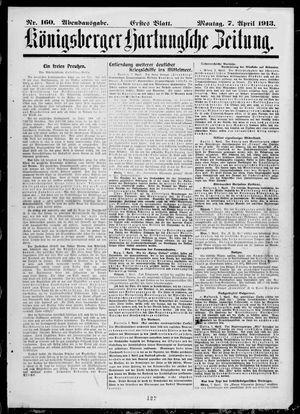 Königsberger Hartungsche Zeitung vom 07.04.1913