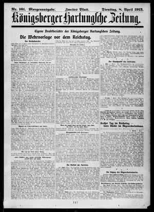 Königsberger Hartungsche Zeitung vom 08.04.1913