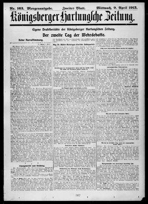 Königsberger Hartungsche Zeitung vom 09.04.1913