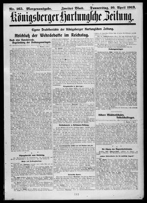 Königsberger Hartungsche Zeitung vom 10.04.1913