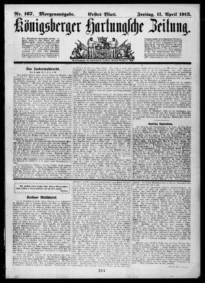 Königsberger Hartungsche Zeitung vom 11.04.1913