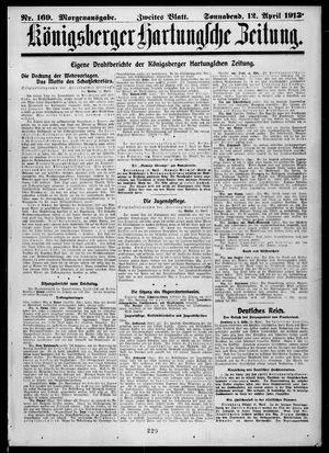 Königsberger Hartungsche Zeitung on Apr 12, 1913