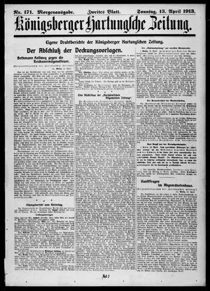 Königsberger Hartungsche Zeitung vom 13.04.1913