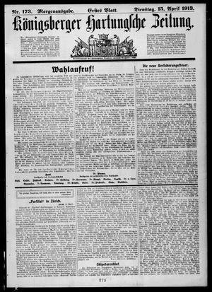 Königsberger Hartungsche Zeitung vom 15.04.1913