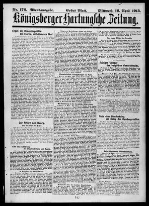 Königsberger Hartungsche Zeitung vom 16.04.1913