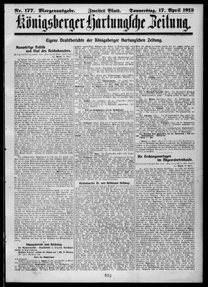 Königsberger Hartungsche Zeitung on Apr 17, 1913