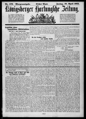 Königsberger Hartungsche Zeitung vom 18.04.1913