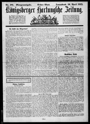 Königsberger Hartungsche Zeitung vom 19.04.1913