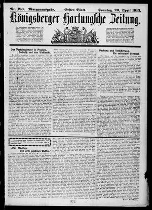 Königsberger Hartungsche Zeitung vom 20.04.1913