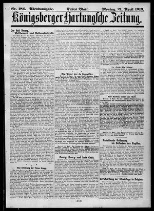 Königsberger Hartungsche Zeitung vom 21.04.1913