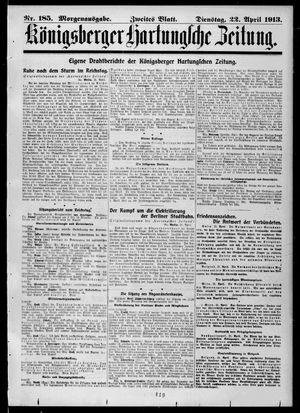 Königsberger Hartungsche Zeitung vom 22.04.1913