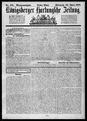 Königsberger Hartungsche Zeitung on Apr 23, 1913
