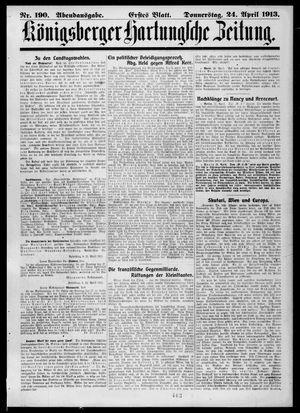 Königsberger Hartungsche Zeitung vom 24.04.1913