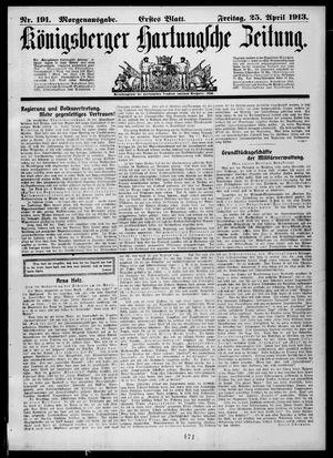 Königsberger Hartungsche Zeitung vom 25.04.1913