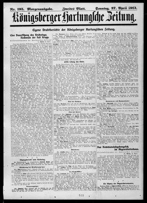 Königsberger Hartungsche Zeitung vom 27.04.1913