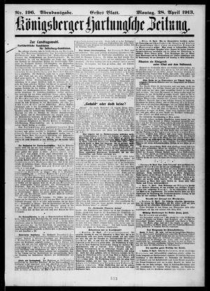 Königsberger Hartungsche Zeitung vom 28.04.1913