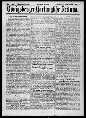 Königsberger Hartungsche Zeitung on Apr 29, 1913